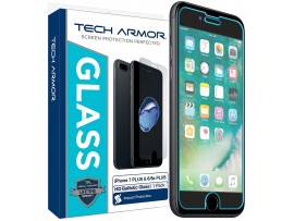 "Tech Armor iPhone 6 Plus & iPhone 6S Plus (5.5"") Ballistic Glass Screen Protector - Protect Your Screen from Drops - 99.99% Clarity and Touch Accuracy"